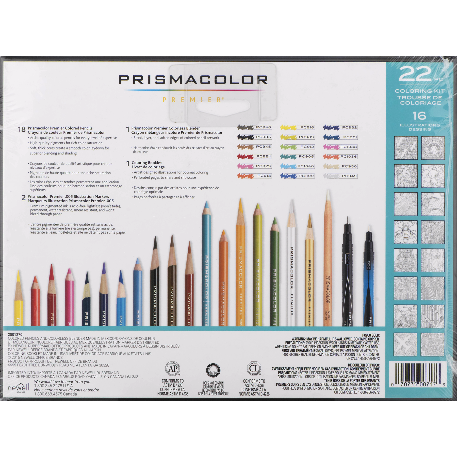 Prismacolor Premier Coloring Kit with Colored Pencils, Art Markers ...