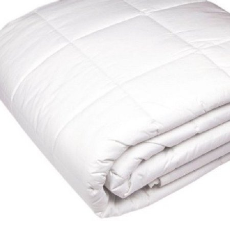 Riegel 230-Thread-Count Quilted Blanket, White - size Queen