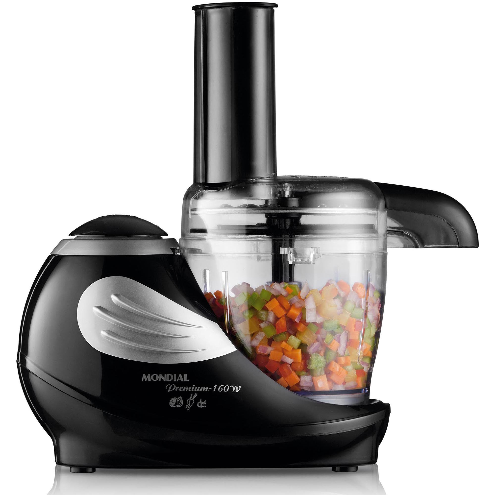 Mondial MP-10 1.5-Cup Food Chopper Processor with Feeder Chute, Black