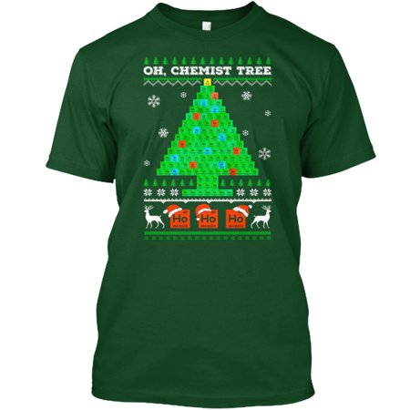 Oh Chemistry Tree Ugly Christmas Sweater Hanes Tagless Tee T Shirt