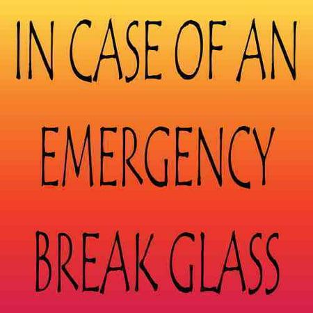 3in x 3in In Case Of An Emergency Break Glass Magnet Vinyl Funny