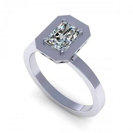 - 0.55CT radiant cut diamonds solitaire ring