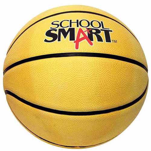 School Smart 29-1/2 in Gradeball Rubber Men's Basketball, Blue