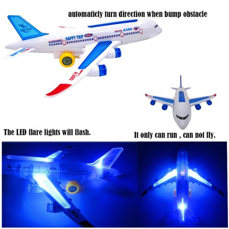 VENSE aircraft carrier in toys Multicolor Flash Plane Toy Sound Aircraft Music Lighting Children Kids Toys - image 2 de 8