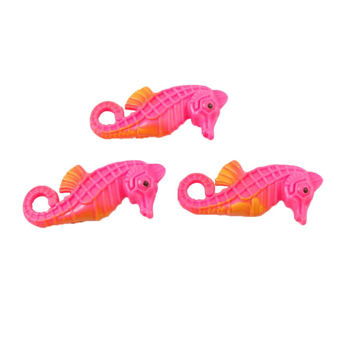 Fish Tank Aquarium Decor Artificial Plastic Seahorses 3 Pcs ...