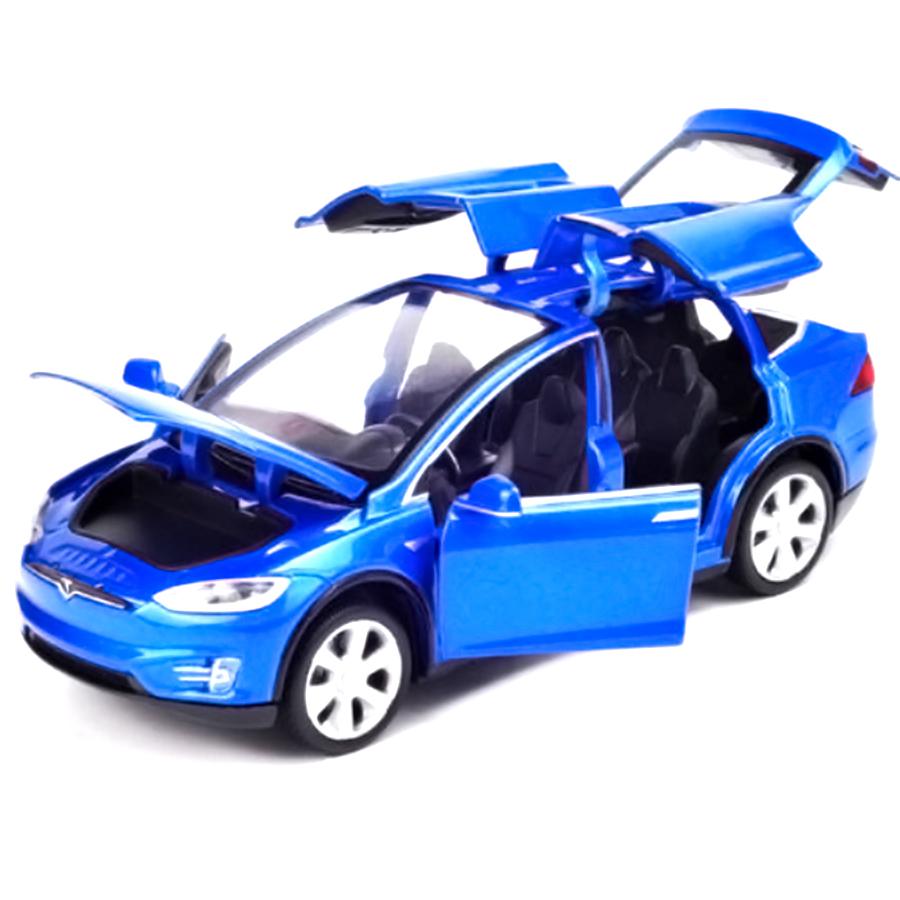 Antsir 1 32 Scale Tesla MODELX90 Diecast Alloy Car Model with Light&Sound Blue by Antsir