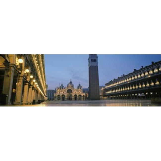 Cathedral lit up at dusk  St. Marks Cathedral  St. Marks Square  Venice  Veneto  Italy Poster Print by  - 36 x 12 - image 1 of 1