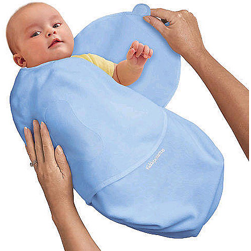 Summer Infant - SwaddleMe Cotton Swaddling Blanket, Blue, Small