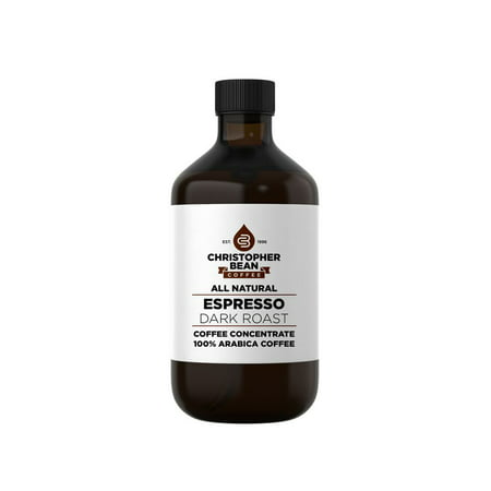 (Espresso Dark Roast Cold Brew Iced Coffee Hot Coffee Liquid Java Concentrate ( 16 Ounce Bottle) Makes 48-62 Cups)