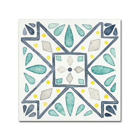 Trademark Fine Art 'Garden Getaway Tile IX White' Canvas Art by Laura Marshall for $<!---->