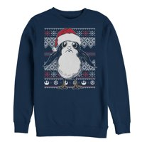 Star Wars The Last Jedi Men's Ugly Christmas Sweater Porg Sweatshirt