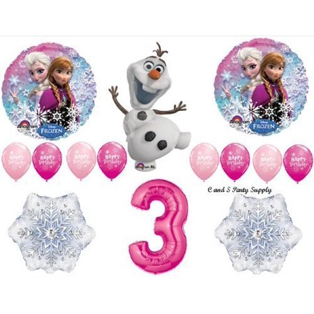 Frozen Pink 3rd Disney Movie Birthday Party Balloons Decorations Supplies by Anagram for $<!---->