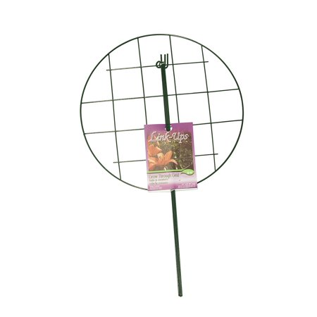Grow Through Support Hoops - Link-Ups Large Garden Vinyl Grow Through Grid 973, Vinyl coated steel supports are made to last any conditions By Luster Leaf
