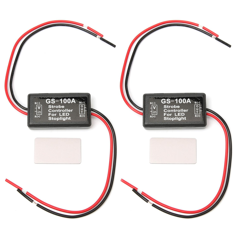 2pcs Flash Strobe Controller Car Flasher Module for Brake Light Tail Stop Light