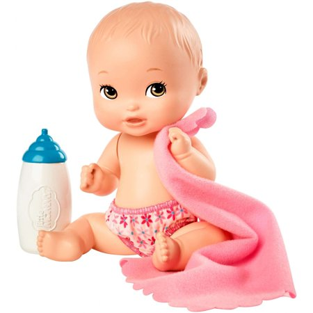 Little Baby Doll (Little Mommy Mini Baby Nurture and Care Doll 2 - Blue)