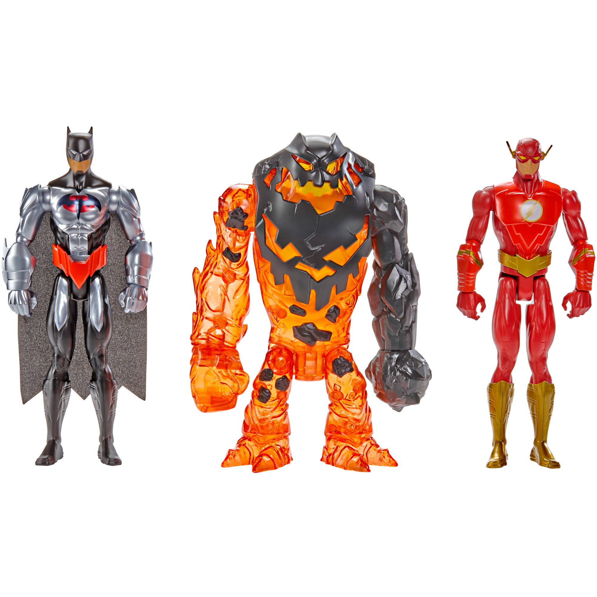 Batman Unlimited Molten Mayhem Batman & The Flash Vs Clayface Figure 3Pk by Mattel