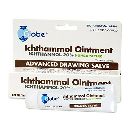 Ichthammol Ointment 20%, (Drawing Salve) 1oz Tube (28.3g) Pharmaceutical Grade