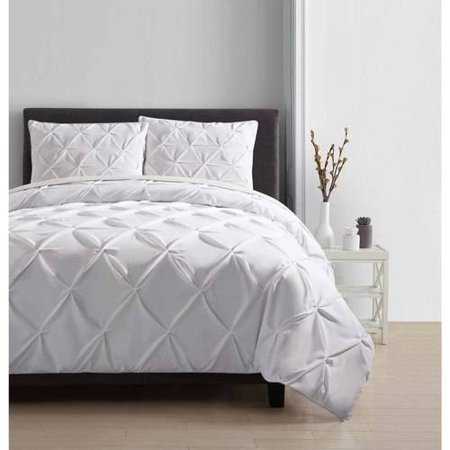 King Carmen Comforter Set White - VCNY