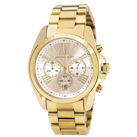 MK6266 Men's Bradshaw Champagne Dial Yellow Gold Steel Bracelet Chronograph Watch