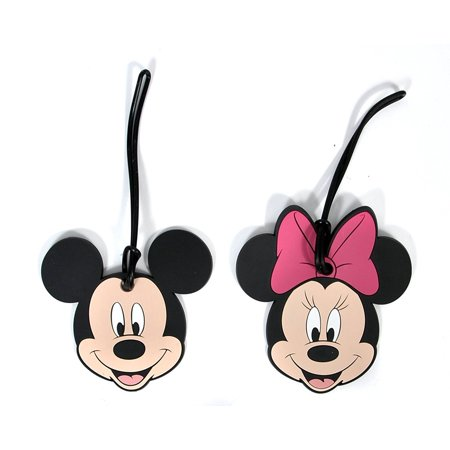 Mickey & Minnie Mouse Faces Luggage Suitcase Tags 2PACK