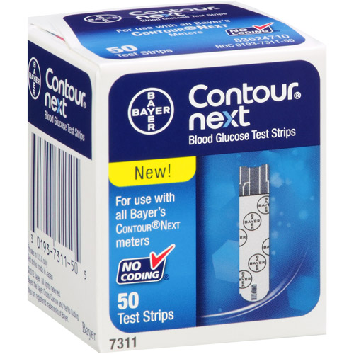 Bayer Contour Next Blood Glucose Test Strips, 50 count