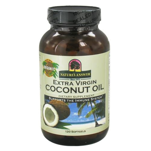 Natures Answer Extra Virgin Coconut Oil Softgels - 120 Ea