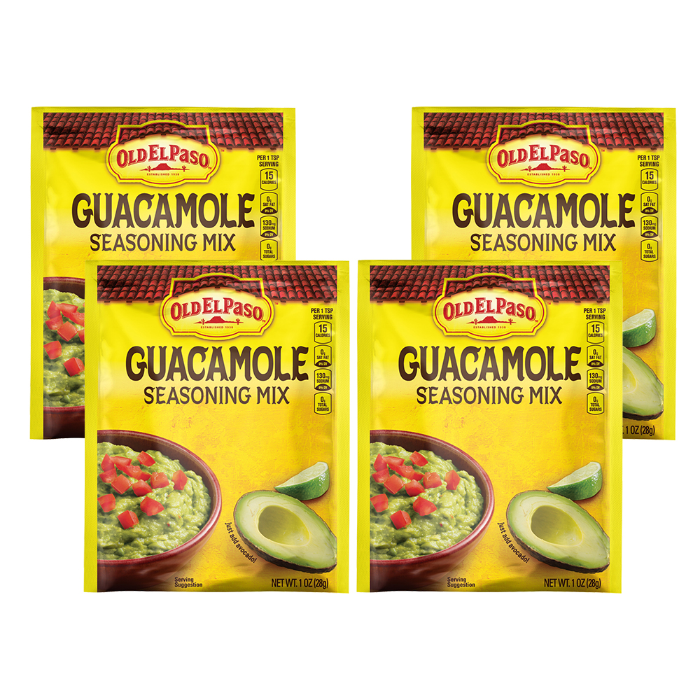 Old El Paso Guacamole Mild Seasoning Mix, 1 oz, 1.0 OZ (4 Pack)