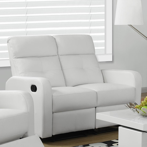 Monarch Reclining Love Seat Brown Bonded Leather