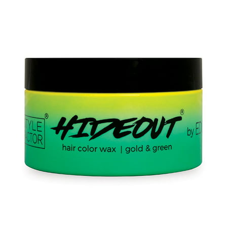 Style Factor Edge Booster HIDEOUT Color Wax 5.4 OZ GOLD/GREEN