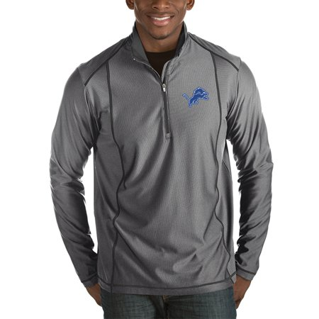 Detroit Lions Antigua Tempo Half-Zip Pullover Jacket - Heather Charcoal