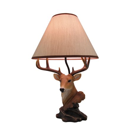 - Dexter 20 Inch Tall Deer Bust Table Lamp