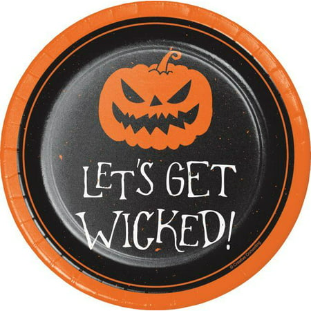 Creative Converting Happy Halloween Dessert Plates, 8 ct (Floor 8 Halloween Special)