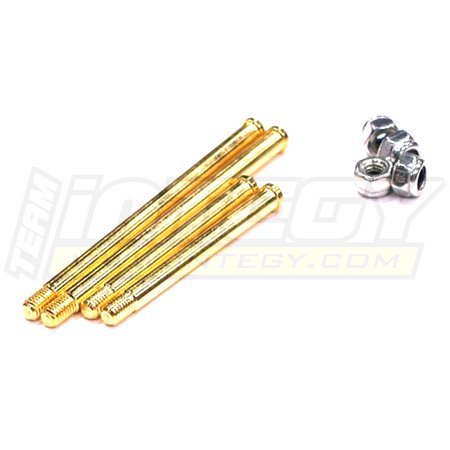 Integy RC Toy Model Hop-ups T6743 Rear Lower Suspension Pins for Traxxas Nitro Stampede 2WD & Nitro Rustler