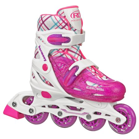 Roller Derby Harmony Girls Adjustable Inline Skates Micro Adjust In Line Skate