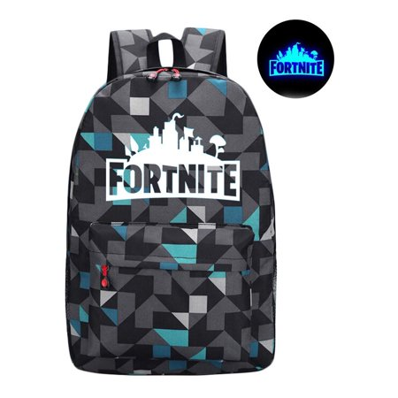 5db8ae9abd5a Xhtang - Game Fortnite Battle Royale Backpack Luminous Fortnite School Bags  Plaid blue - Walmart.com