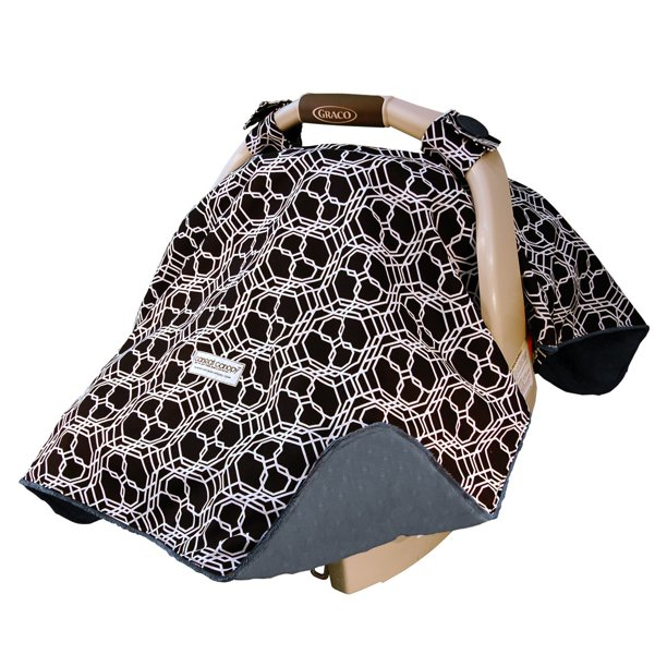 Cat Canopy Baby Car Seat Cover, Car Seat Blanket Cover