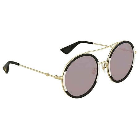 Gucci Pink Round Ladies Sunglasses GG0061S 006 (Gucci Ladies Sunglasses)