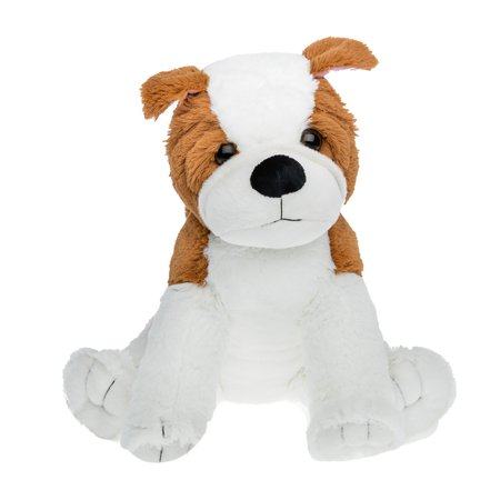 Cuddly Soft 16 inch Stuffed The Happy Bulldog - We stuff