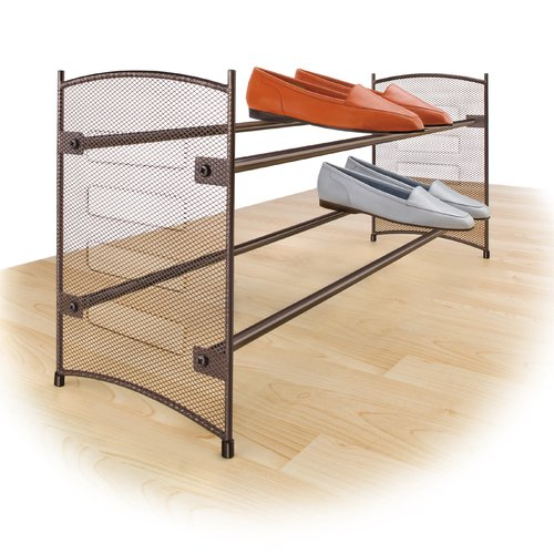 Lynk Expandable 12 Pair Shoe Rack