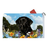 Black Labrador - Best of Breed Summer Flowers Dog Breed Mail Box Cover