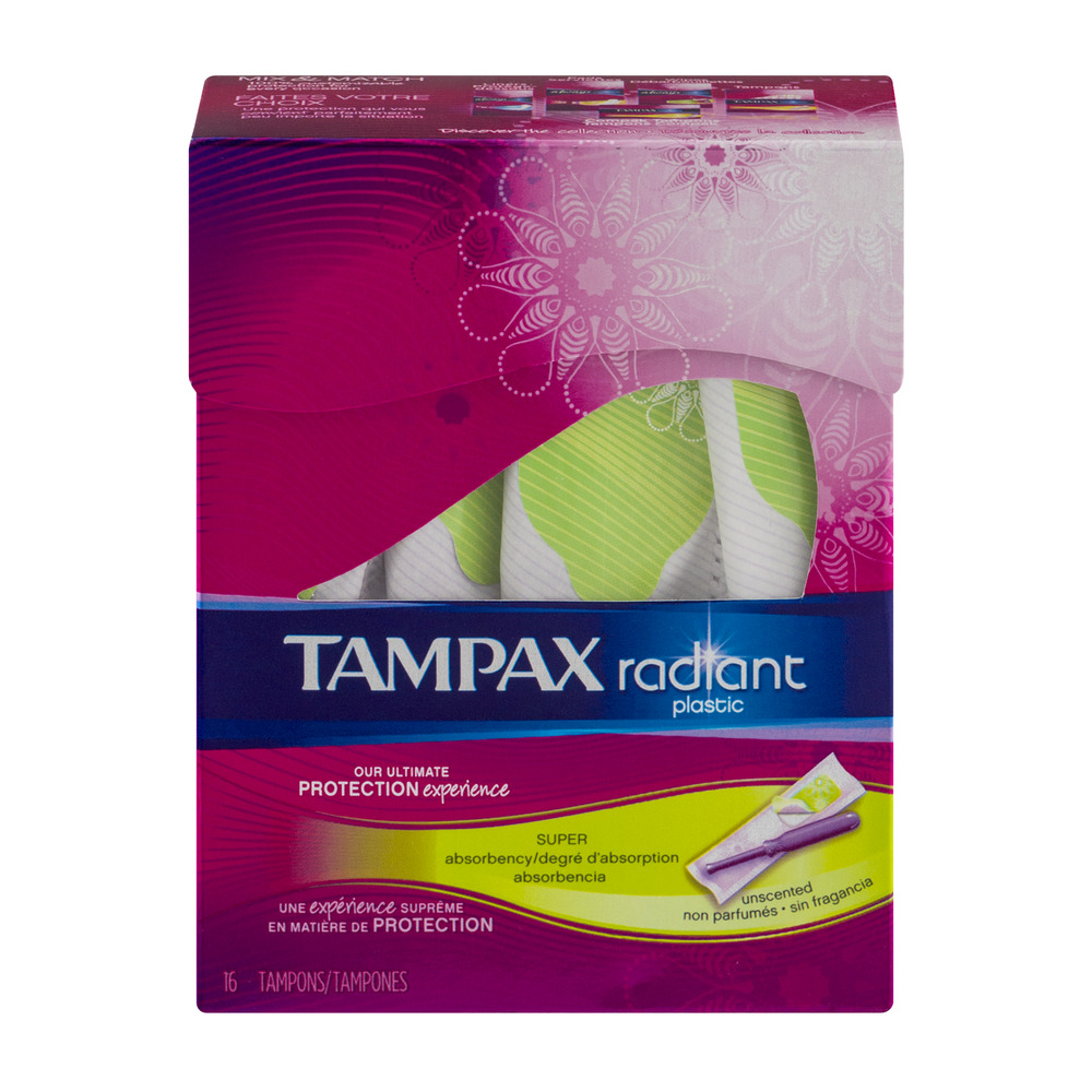 Tampax Radiant Super Tampons Unscented - 16 CT