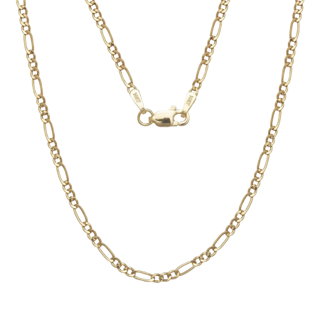 """A&M Solid 14kt Gold Figaro Chain, 2MM 24"""""""