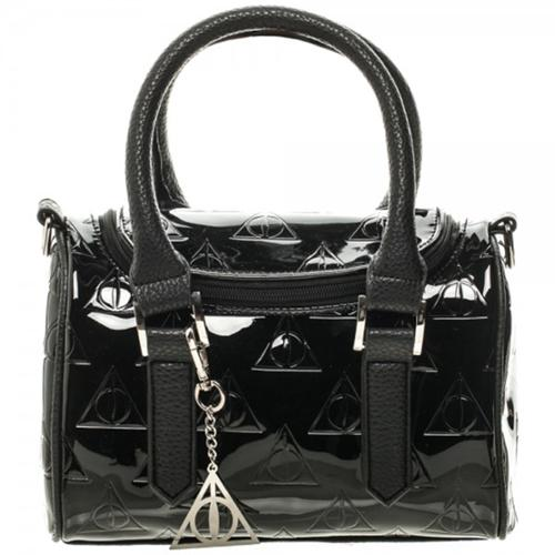 Harry Potter Deathly Hollows Embossed Mini Barrel Satchel with Charm