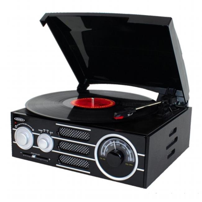 Jensen JTA300 3 Speed Stereo Turntable With AM & FM Stereo by Jensen