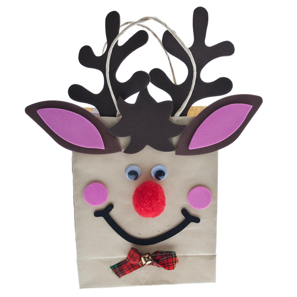 Holiday Reindeer Craft Gift Bags