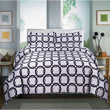 Home Sweet, Madison 600-Thread Count, Cotton Rich Printed Sheet Set (Full, Madison Blue)