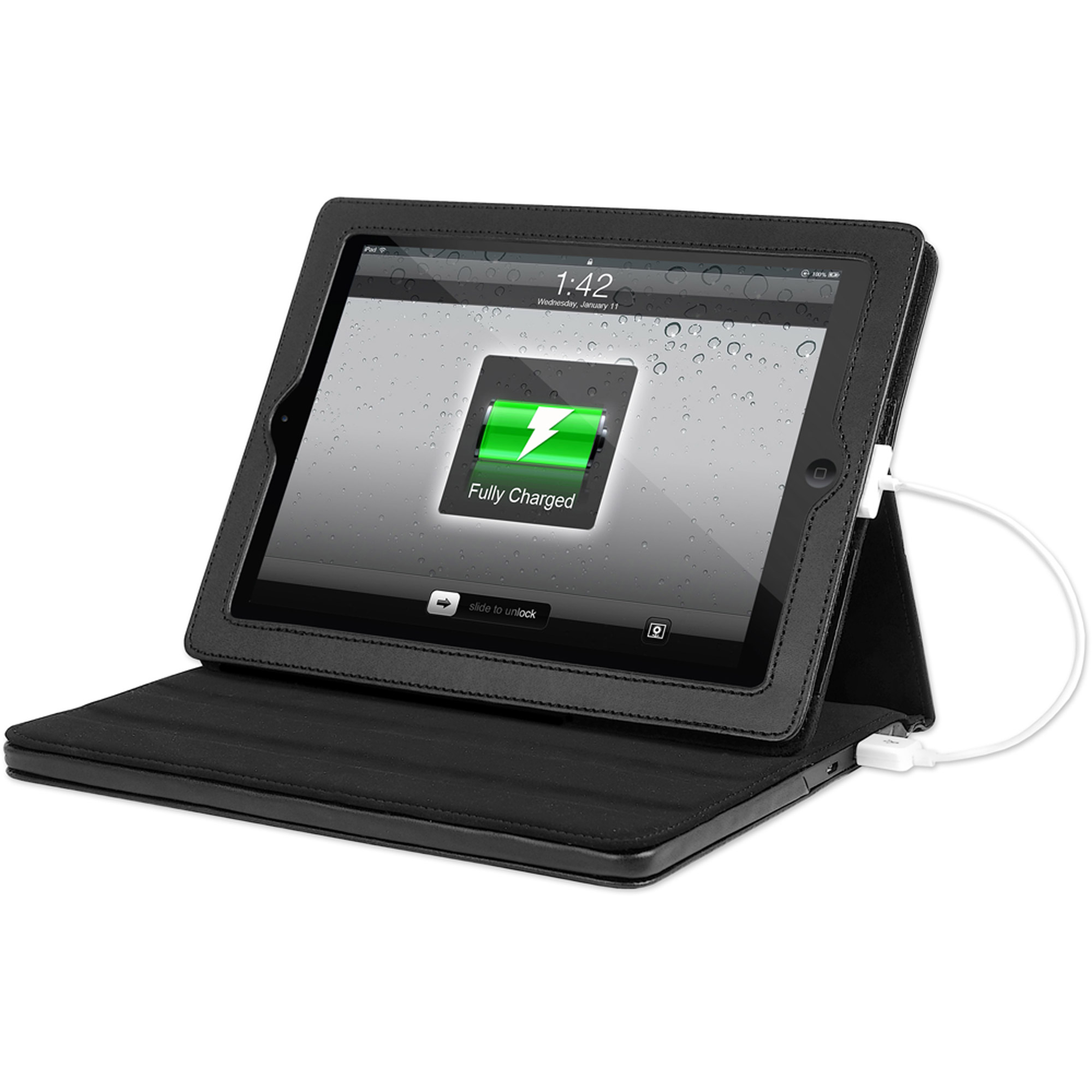 "Justin Power Rechargeable Power Case for Apple iPad 2-4 and 10"" Tablet, Black"