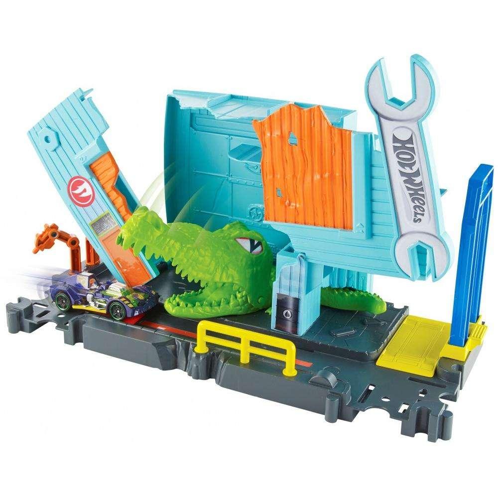 Hot Wheels City Gator Garage Attack Play Set by Mattel