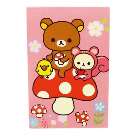 Rilakkuma Pink Cover Notepad (30 Sheets) (Rilakkuma School Supplies)