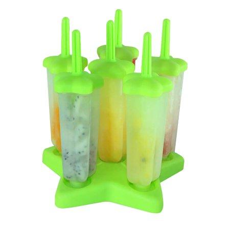 Creative Diy Homemade Ice Cream Popsicle Mold Ice Pop Star Tray Pan Maker  Green